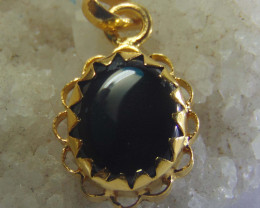 gold plated solid 999 silver designs black agates stones