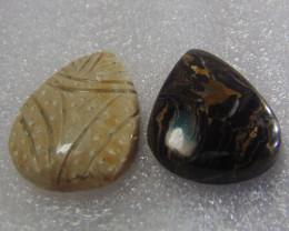 19.90 cts Excellent Designer Natural Stromatolite Pears