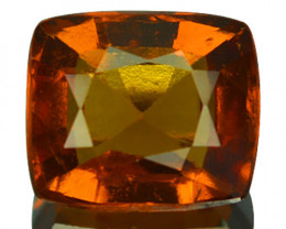 2.33 Cts Natural Cinnamon Orange Hessonite Garnet Cushion Cut Sri Lanka