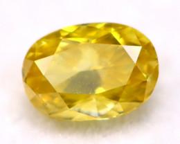 0.16Ct 3.90mm Natural Fancy Yellow Diamond C2116