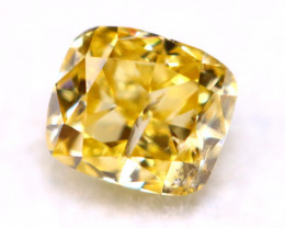 0.16Ct 3.20mm Natural Fancy Yellow Diamond C2117