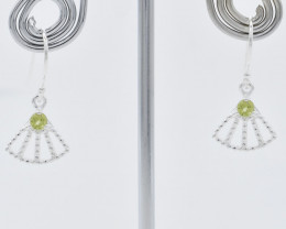 PERIDOT EARRINGS 925 STERLING SILVER NATURAL GEMSTONE FREE SHIPPING JE225
