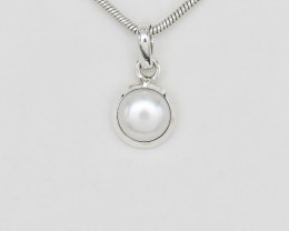 PEARL PENDANT 925 STERLING SILVER NATURAL GEMSTONE FREE SHIPPING JP137