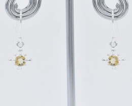 CITRINE EARRINGS 925 STERLING SILVER NATURAL GEMSTONE FREE SHIPPING JE215