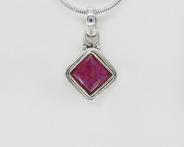 RUBY PENDANT 925 STERLING SILVER NATURAL GEMSTONE FREE SHIPPING JP214