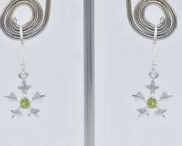 PERIDOT EARRINGS 925 STERLING SILVER NATURAL GEMSTONE FREE SHIPPING JE235