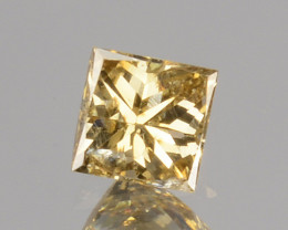 ~UNTREATED~ 0.10 Cts Natural Diamond Fancy Yellow Princess Cut Africa