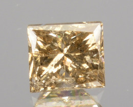 ~UNTREATED~ 0.15 Cts Natural Diamond Fancy Yellow Princess Cut Africa