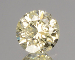~UNTREATED~ 0.14 Cts Natural Diamond Fancy Yellow Round Cut Africa
