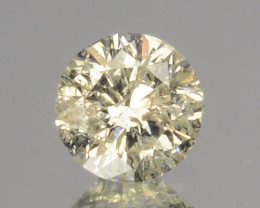 ~UNTREATED~ 0.16 Cts Natural Diamond Fancy Yellow Round Cut Africa