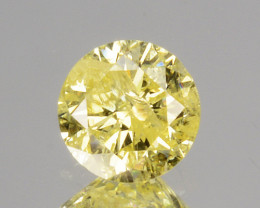 ~UNTREATED~ 0.19 Cts Natural Diamond Fancy Yellow Round Cut Africa