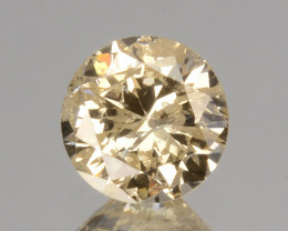 ~UNTREATED~ 0.22 Cts Natural Diamond Fancy Yellow Round Cut Africa
