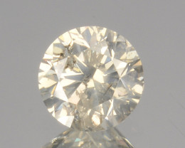 ~UNTREATED~ 0.25 Cts Natural Diamond Fancy Yellow Round Cut Africa