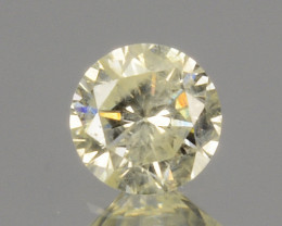 ~UNTREATED~ 0.10 Cts Natural Diamond Fancy Yellow Round Cut Africa