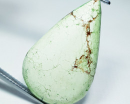 23.05 ct Natural Lemon Chrysoparase Pear Cabochon Gemstone