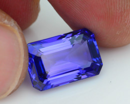 AAA Grade 7.42 ct Tanzanite eye catching Color