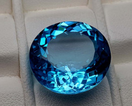 19.65Crt Blue Topaz Natural Gemstones JI86