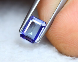 1.22ct Natural Violet Blue Tanzanite Octagon Cut Lot V5949