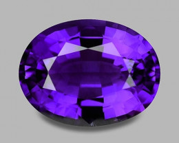 Flawless, top gem quality rich purple Rwandan Amethyst.