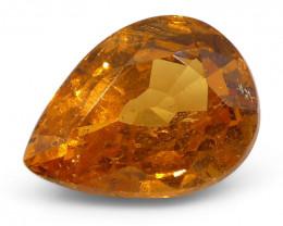 2.34 ct Pear Shape Vivid Fanta Spessartite Garnet