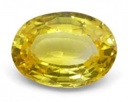 2.03 ct Oval Yellow Sapphire
