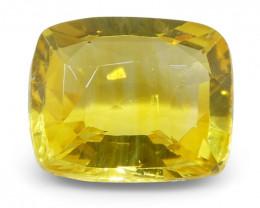 2.07 ct Cushion Yellow Sapphire