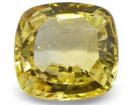 2.21 ct Cushion Yellow Sapphire