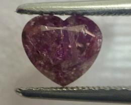 GIA 1.00 Carat Heart Shape Natural Fancy Deep Bronwish Purplish Pink Loose