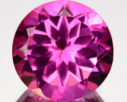 3.52 Cts Candy Pink Natural Topaz 9mm Round Cut Brazil