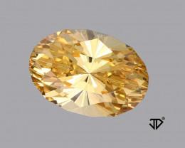 4.02 Carat VVS Golden Beryl Master Cut Regal Radiant John Dyer !