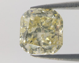 Cushion Modified Cut Diamond ,Yellow Color Diamond  ,0.51 cts