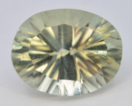 Concave Cut 6.25 ct Natural Green Amathyst
