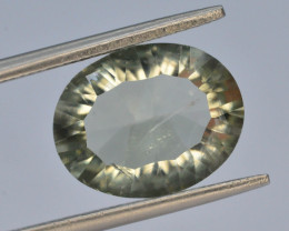 Concave Cut 4.75 ct Natural Green Amathyst