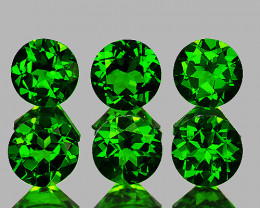 3.50 mm Round 6 pcs 1.17cts Chrome Green Diopside [VVS]