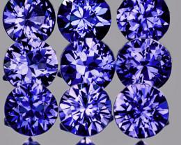 2.80 mm Round 9pcs Unheated Violet-Blue Sapphire [VVS]