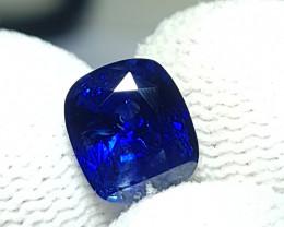 CERTIFIED 2.18 CTS NATURAL STUNNING CUSHION CUT ROYAL BLUE SAPPHIRE CEYLON
