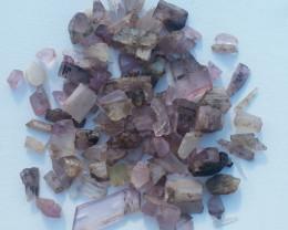 kunzite crystals rough