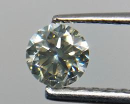 0.48 cts Grey round diamond gemstone,gray diamond