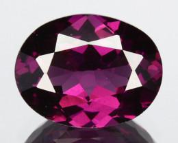 2.14 Cts Natural Grape Garnet Purplish Pink Oval Cut Mozambique