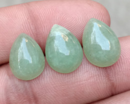 GREEN AVENTURINE TRIO NATURAL GEMSTONES VA6060