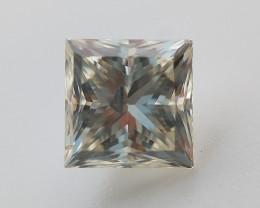 Princess Cut Diamond , Loose natural Diamond , 0.52 cts