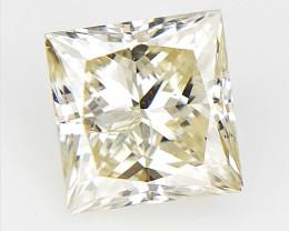 Princess Brilliant Diamond , with natural impurities , 0.47