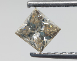Princess Cut Diamond , Loose natural Diamond , 0.59 cts