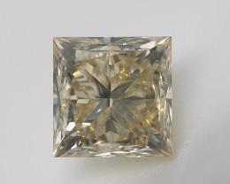 Rare Diamond , Valentine's Gift , Princess Cut Diamond , 0.51 cts