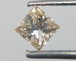 Natural Light Champagne Diamond , Excellent Cut , 0.45 cts