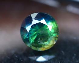 Unheated Sapphire 1.06Ct Natural Tri Color Sapphire E2420