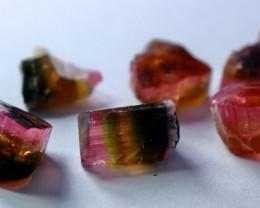 23.90 CT Natural  Beautiful Pink Cap Tourmaline Crystal Lot