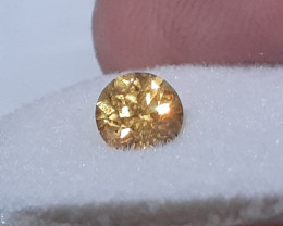 certified .905ct Tanzania african sapphire-orange-yellow