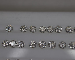 #1021 VVS1/E 2.20MM CALIBRATED DIAMONDS 50PCS