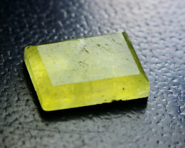 5.30 CT Natural & Unheated Yellow Brucite Faceted Cut Stone